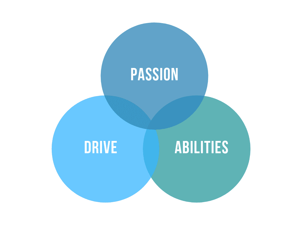 Passion, drive & abilities