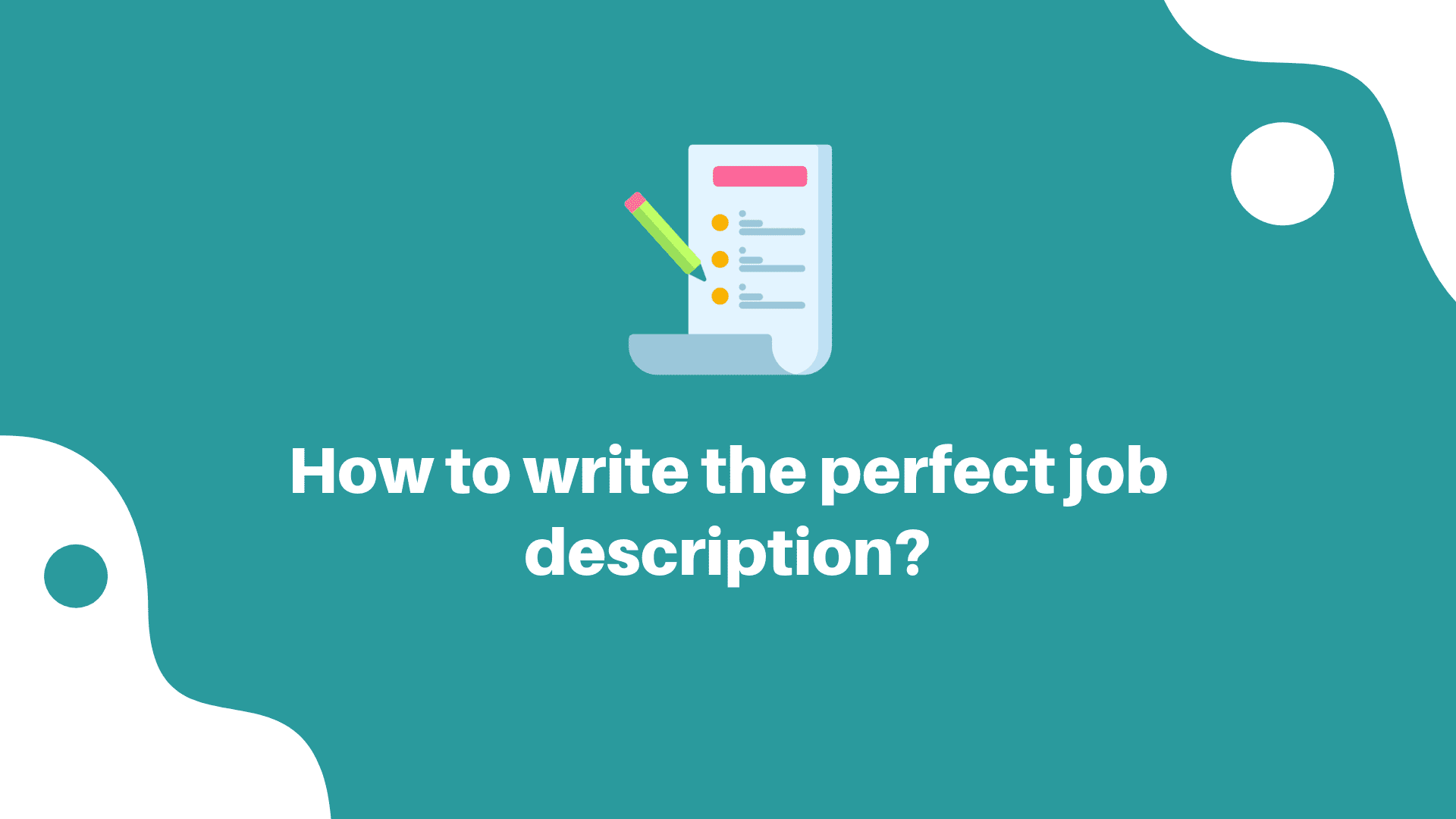 how to write job description