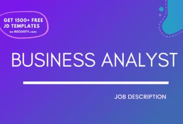 business analyst job description, business analyst jd, free business analyst job description template, free job description template