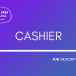 Cashier Job description template, free cashier job description template, free cashier jd, sample cashier jd, free sample cashier job description, cashier job description, cashier jd, free job description templates