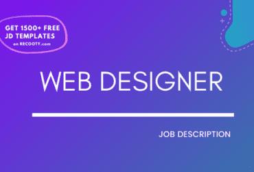web designer job description, web designer jd template, web designer sample jd, web designer template, free web designer job descrption
