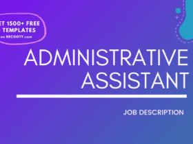 Administrative Assistant Job Description, Administrative Assistant JD template, Job Description Template
