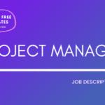 project manager job description template, project manager jd, free project manager jd template, free jd template, project manager jd sample, project manager jd online, project manager job posting