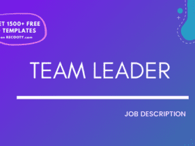 team leader job description example, team leader job description sample, free team leader job description template, free team leader jd template, team leader jd, team lead jd free