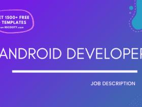 Android Developer Job Description Template, Android Developer JD, Free Job Description,Job Description Template,job posting