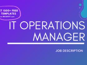 IT Operations Manager Job Description Template,IT Operations Manager JD,Free Job Description,Job Description Template,job posting