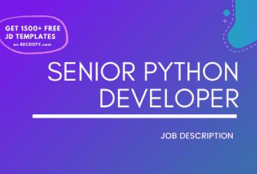 Senior Python Developer Job Description Template,Senior Python Developer JD,Free Job Description,Job Description Template,job posting