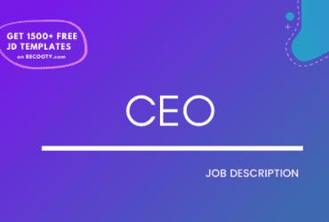 CEO Job Description Template, CEO JD, Free Job Description, Job Description Template, job posting