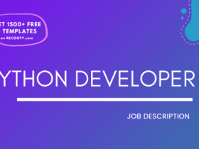Python Developer Job Description Template, Python Developer JD, Free Job Description, Job Description Template, job posting