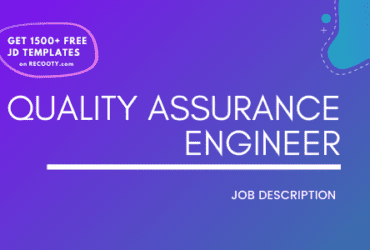 Quality Assurance Engineer Job Description Template,Quality Assurance Engineer JD, Free Job Description,Job Description Template,job posting