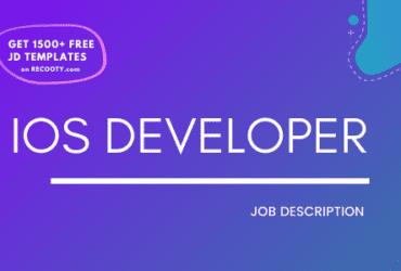 iOS Developer Job Description Template,iOS Developer JD, Free Job Description, Job Description Template, job posting