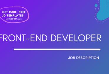 Front-End Developer Job Description Template,Front-End Developer JD, Free Job Description, Job Description Template, job posting