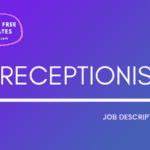 Receptionist Job Description Template, Receptionist JD, Free Job Description, Job Description Template, job posting
