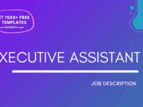 Executive Assistant Job Description Template,Executive Assistant JD,Free Job Description,Job Description Template,job posting