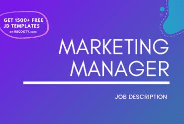 Marketing Manager Job Description Template,Marketing Manager JD,Free Job Description,Job Description Template,job posting