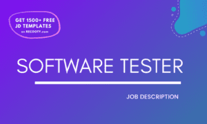 Software Tester Job Description Template,Software Tester JD,Free Job Description,Job Description Template,job posting