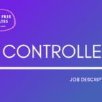 Controller Job Description Template, Controller JD, Free Job Description, Job Description Template, job posting