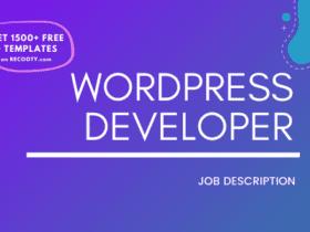 WordPress Developer Job Description Template,WordPress Developer JD,Free Job Description,Job Description Template,job posting