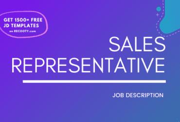 Sales RepresentativesJob Description Template, Sales Representatives JD, Free Job Description, Job Description Template, job posting