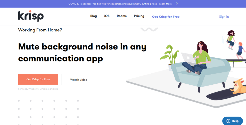 Krisp. Background noise canceling tool.  Must-have tools for remote teams