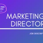 Marketing Director Job Description Template,Marketing Director JD,Free Job Description,Job Description Template,job posting