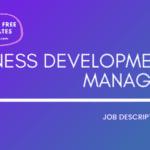 Business Development Manager Job Description TemplateBusiness Development Manager JD,Free Job Description,Job Description Template,job posting
