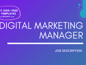 Digital Marketing Manager Job Description Template,Digital Marketing Manager JD,Free Job Description,Job Description Template,job posting