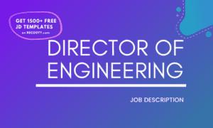 Director of Engineering Job Description Template,Director of Engineering JD,Free Job Description,Job Description Template,job posting