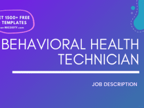 Behavioral Health Technician Job Description Template,Behavioral Health Technician JD,Free Job Description,Job Description Template,job posting