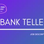 Bank Teller Job Description Template, Bank Teller JD,Free Job Description, Job Description Template, job posting