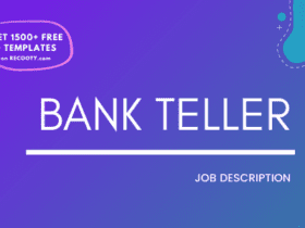 Bank Teller Job Description Template, Bank Teller JD,Free Job Description, Job Description Template, job posting