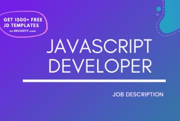 JavaScript Developer Job Description Template, JavaScript Developer JD,Free Job Description, Job Description Template, job posting