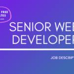 Senior Web Developer Job Description Template,Senior Web Developer JD,Free Job Description,Job Description Template,job posting
