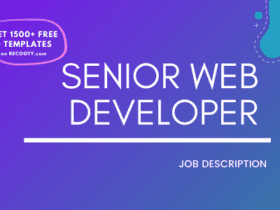 Senior Web Developer Job Description Template,Senior Web Developer JD,Free Job Description,Job Description Template,job posting