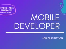 Mobile Developer Job Description Template, Mobile Developer JD, Free Job Description, Job Description Template, job posting