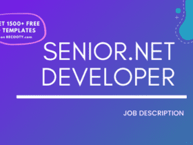 Senior.NET Developer Job Description Template,Senior.NET Developer JD,Free Job Description,Job Description Template,job posting