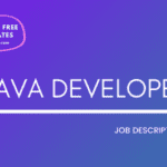 Java Developer Job Description Template,Java Developer JD,Free Job Description,Job Description Template,job posting