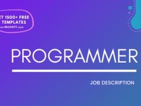 Programmer Job Description Template, Programmer JD, Free Job Description, Job Description Template, job posting