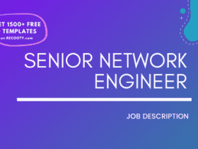Senior Network Engineer Job Description Template,Senior Network Engineer JD,Free Job Description,Job Description Template,job posting