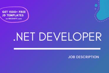 .NET Developer Job Description Template,.NET Developer JD,Free Job Description,Job Description Template,job posting