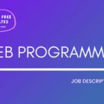Web Programmer Job Description Template,Web Programmer JD,Free Job Description,Job Description Template,job posting