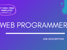 Web Programmer Job Description Template,Web Programmer JD,Free Job Description,Job Description Template,job posting