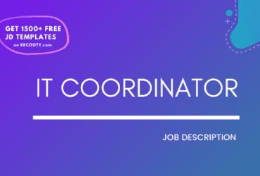 IT Coordinator Job Description Template,IT Coordinator JD,Free Job Description,Job Description Template,job posting