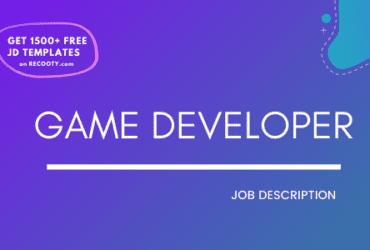 Game Developer Job Description Template,Game Developer JD,Free Job Description,Job Description Template,job posting