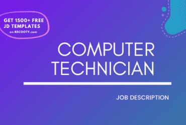 Computer Technician Job Description Template,Computer Technician JD,Free Job Description,Job Description Template,job posting