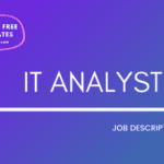 IT Analyst Job Description Template,IT Analyst JD,Free Job Description,Job Description Template,job posting