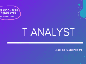 IT Analyst Job Description Template,IT Analyst JD,Free Job Description,Job Description Template,job posting