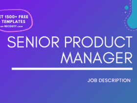 Senior Product Manager Job Description Template,Senior Product Manager JD,Free Job Description,Job Description Template,job posting