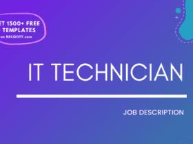 IT Technician Job Description Template,IT Technician JD,Free Job Description,Job Description Template,job posting