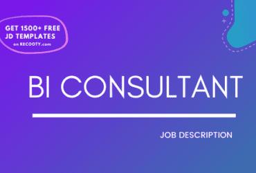 BI Consultant Job Description Template,BI Consultant JD,Free Job Description,Job Description Template,job posting